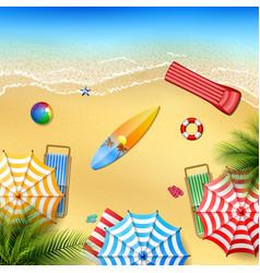 beautiful tropical beach vector image
