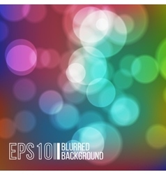 Bright background with bokeh effect vector image