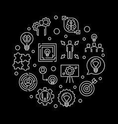business solution round vector image