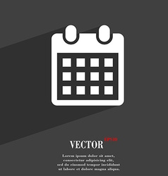 Calendar page symbol Flat modern web design with vector