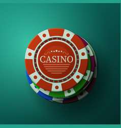casino chips stack of gambler poker chips vector image