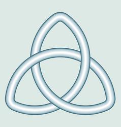Celtic trefoil knot vector