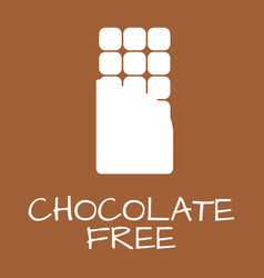 Chocolate free label food intolerance symbols vector