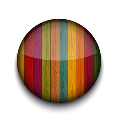 circle wooden app icon vector image vector image
