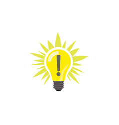 color image sign of idea light lamp bulb vector image