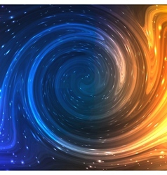 Colorful Shining Swirl Like Flow of Water and vector image