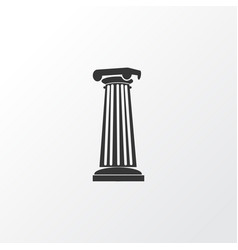 column icon symbol premium quality isolated vector image