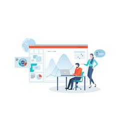 concept website statistics analysis vector image