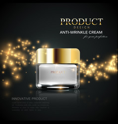 Cosmetics product ads vector