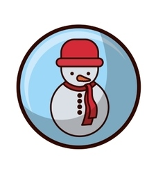 Crystal sphere with snowman and coat vector