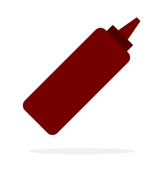 dispenser with a spicy tomato sauce flat isolated vector image