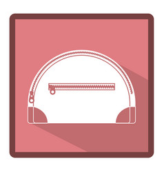Emblem handbag for cosmetic icon vector