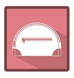 emblem handbag for cosmetic icon vector image
