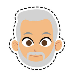 Face of man icon image vector