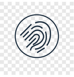 fingerprint scan concept linear icon isolated on vector image