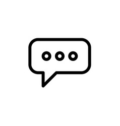 flat bubble chat line icon symbol sign logo vector image