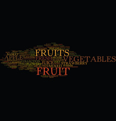 fruit word cloud concept vector image