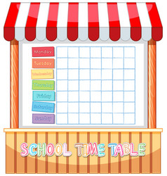 Gf ii backtoschool timetable 12 vector