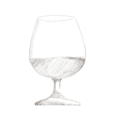 glass of wine or brandy icon vector image