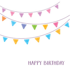 happy birthday card party design vector image