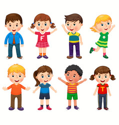 happy children in different positions vector image