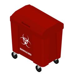 Hazardous dangerous chemical waste isometric view vector