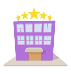 Hotel five stars icon cartoon style vector image