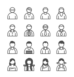 human Icons set vector image