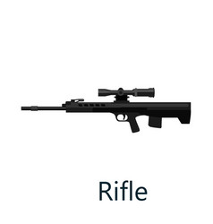 hunting repeating air rifle weapon isolated on vector image