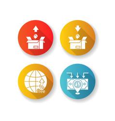 International trade customs taxes flat design vector