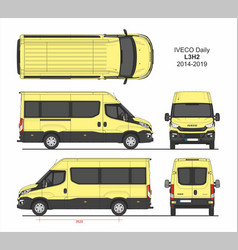 Iveco daily passenger van l3h2 2014-2019 vector