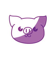 Kawaii pig icon vector