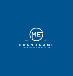 Letter me logo design vector