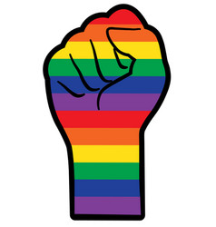 Lgbtq equality hand vector