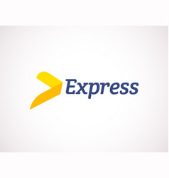 logistic logo express arrow delivery vector image