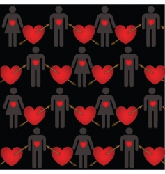 lovers pattern vector image