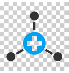 Medical center icon vector