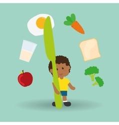 Menu Kids icon design vector image