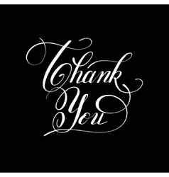 Modern calligraphy thank you handwritten lettering vector