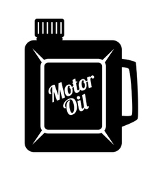 Motor oil can icon vector