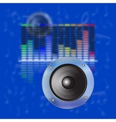 Musical design sound waves an equalizer vector