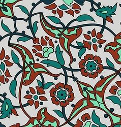 Ornament paisley arabesque floral pattern tile vector