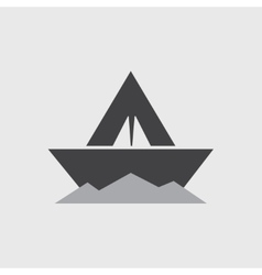 Paper boat - icon vector