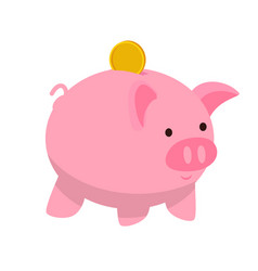 Piggy bank flat vector