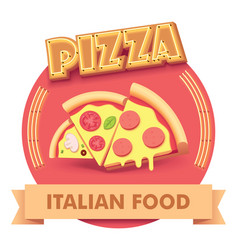 pizza or label for menu vector image