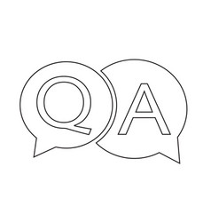 question answer icon vector image