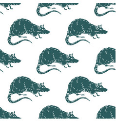 rat or mouse seamless pattern background vector image