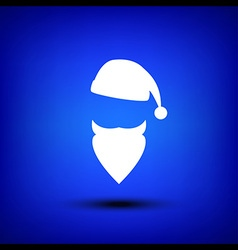 Santa white on blue vector image