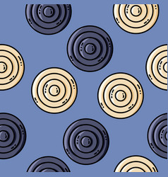 seamles pattern with circles in retro colors vector image