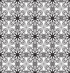 seamless monochrome ornament pattern vector image